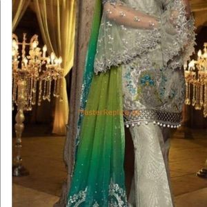 Unstitched net fabric for salwar kameez